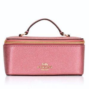 NWOT Coach Metallic Blush Vanity Jewelry Box